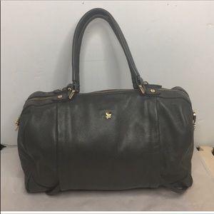 Ora Delphene Cross Grey leather satchel